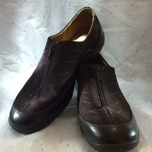 Naturalizer brown suede/Leather loafers size 9M